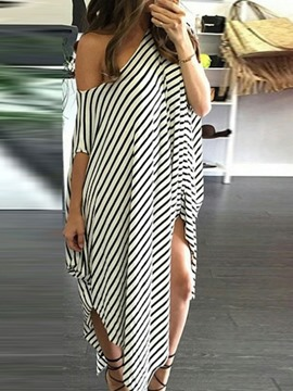 Ericdress Half Sleeve Asymmetric Ankle-Length Summer Asymmetrical Dress