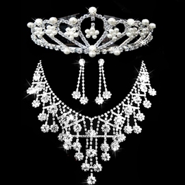 European Floral Tiara Jewelry Sets (Wedding)