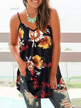 Ericdress Summer Floral Chiffon Tank Top