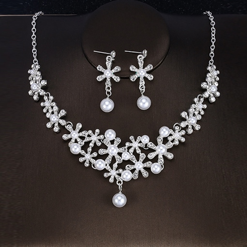 Floral Earrings E-Plating Jewelry Sets (Wedding)