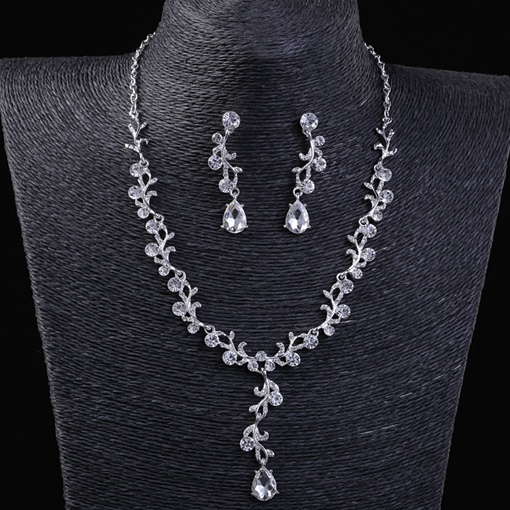 Korean Floral E-Plating Jewelry Sets (Wedding)