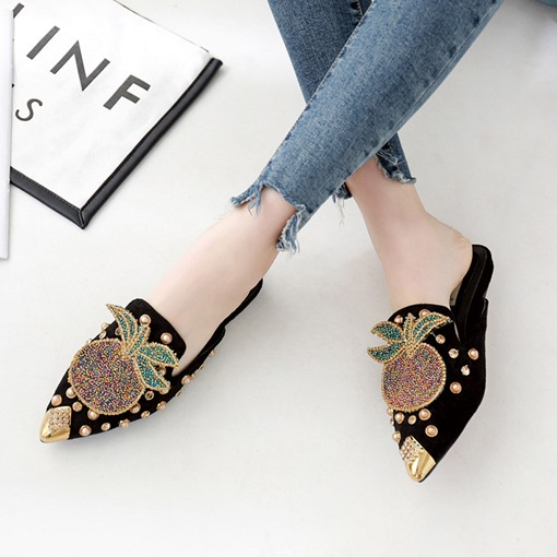 Ericdress Beads Slip-On Women's Mules Shoes