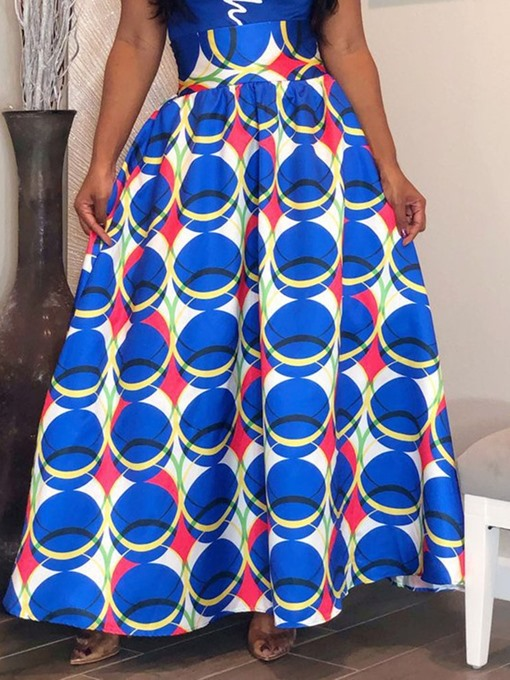 Ericdress Floor-Length Geometric Print Skirt