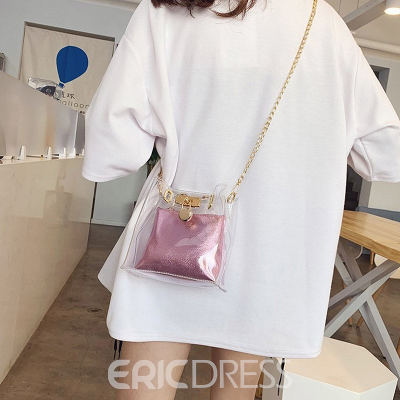 Ericdress PU Plain Chain Square Crossbody Bags