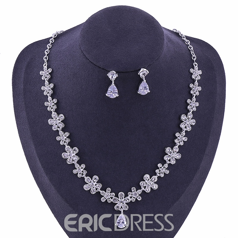 Earrings Korean Gemmed Jewelry Sets (Wedding)