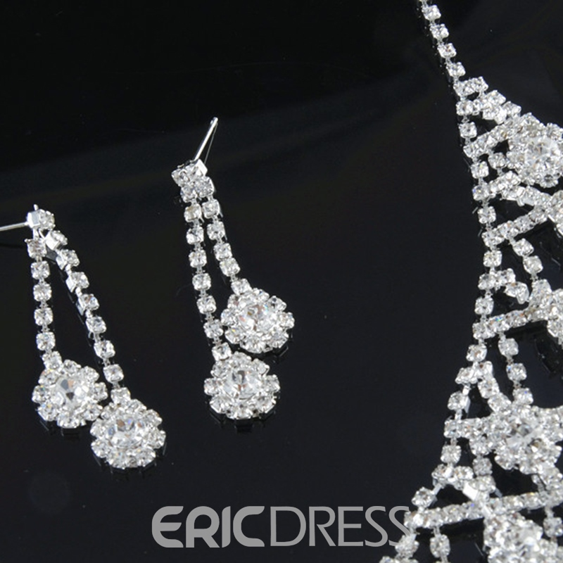 Korean Earrings Diamante Jewelry Sets (Wedding)