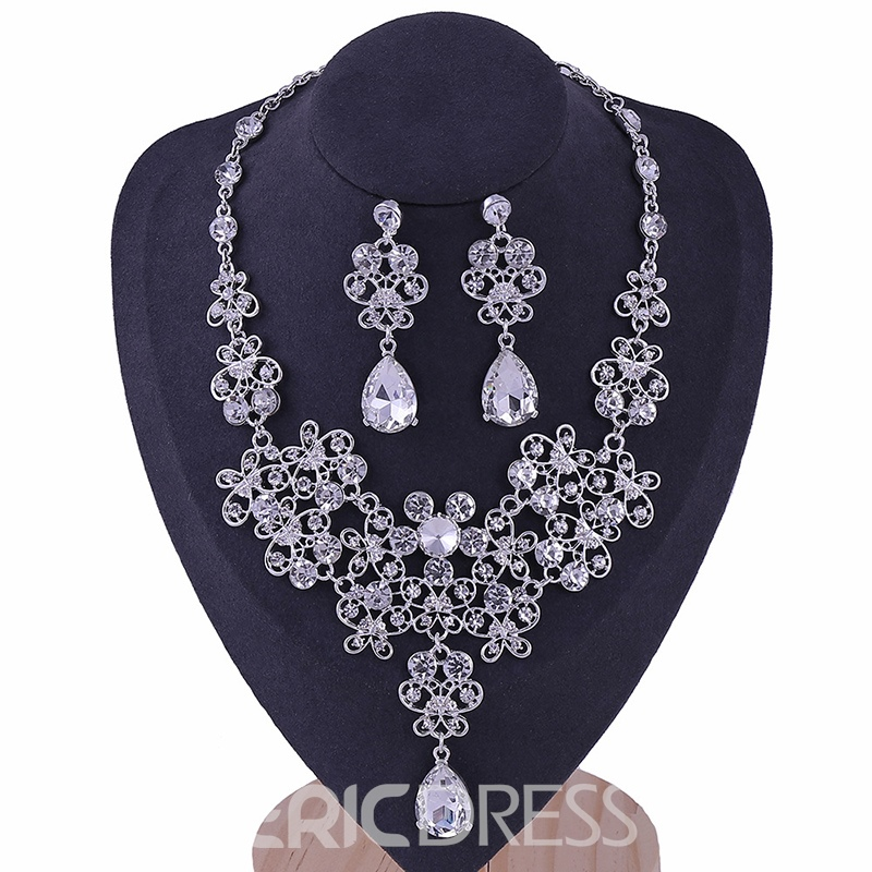 Korean Necklace E-Plating Jewelry Sets (Wedding)