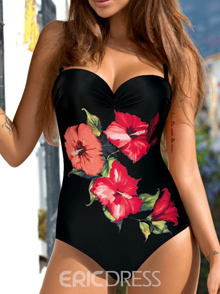 Ericdress Sexy Floral Micro One Piece Swimwear