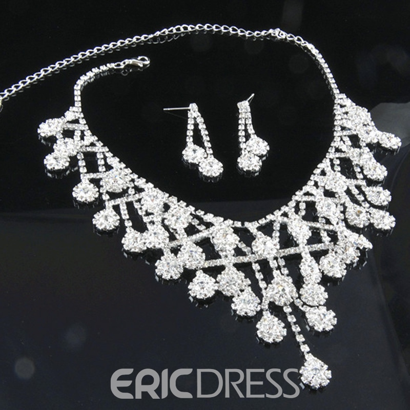 Korean Floral Necklace Jewelry Sets