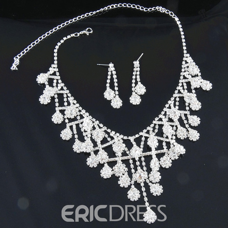 Ericdress Korean Diamante Floral Wedding Jewelry Sets