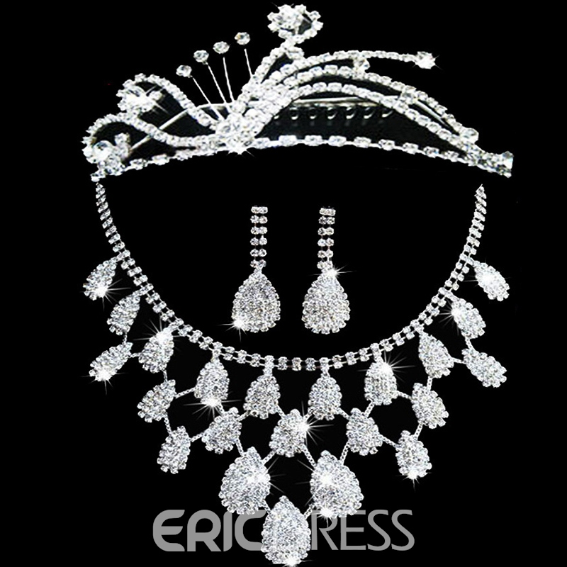 Floral E-Plating Korean Jewelry Sets
