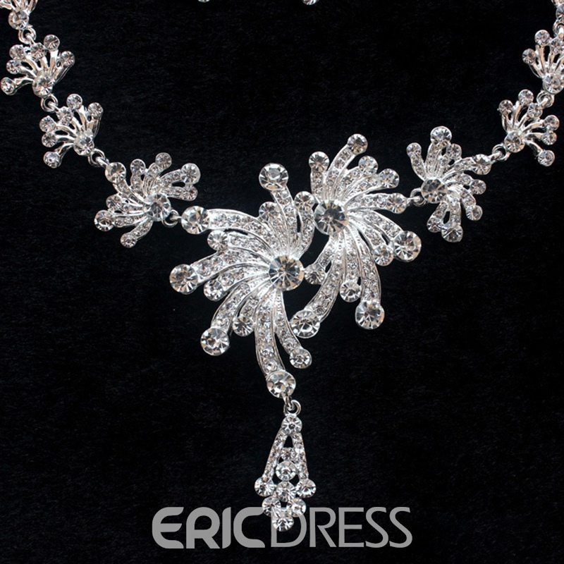 European E-Plating Floral Jewelry Sets (Wedding)