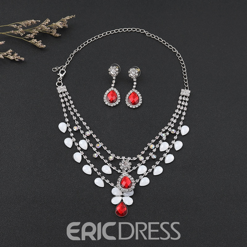 E-Plating Earrings European Jewelry Sets (Wedding)