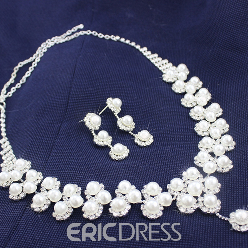 Floral Korean Necklace Jewelry Sets