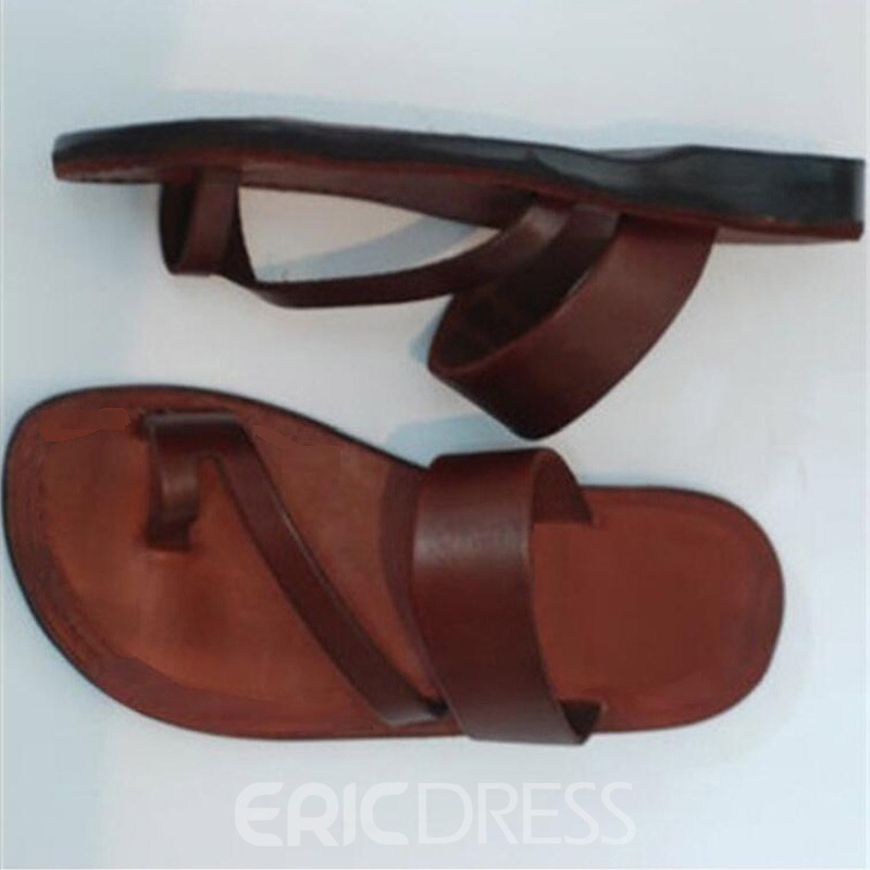 Ericdress PU Thong Slip-On Women's Casual Flat Sandals
