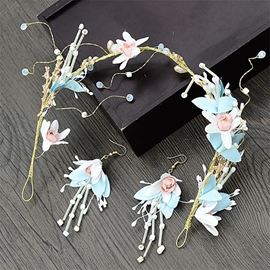 Korean Earrings Floral Jewelry Sets