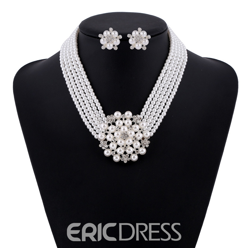Necklace Floral European Jewelry Sets
