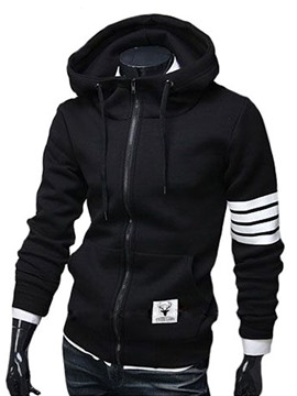 Ericdress Stripe Cardigan Men's Casual Hoodies