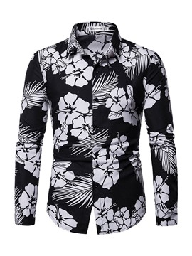 Ericdress Print Casual Lapel Mens Shirt