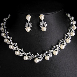 Spherical Pearl Inlaid Korean Jewelry Sets (Wedding)