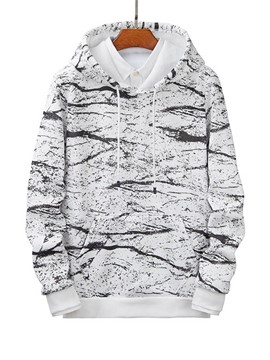 Ericdress Pullover Print Men's Loose Hoodies