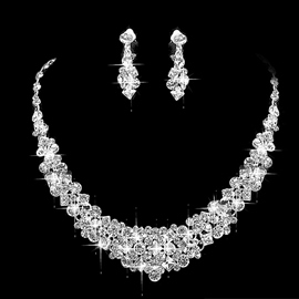 Earrings Floral Korean Jewelry Sets (Wedding)