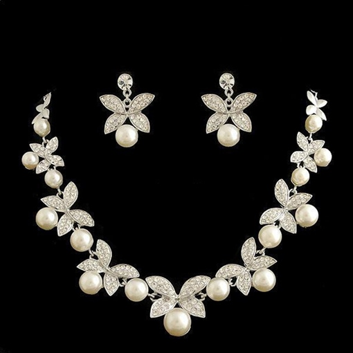 Necklace Pearl Inlaid Korean Jewelry Sets