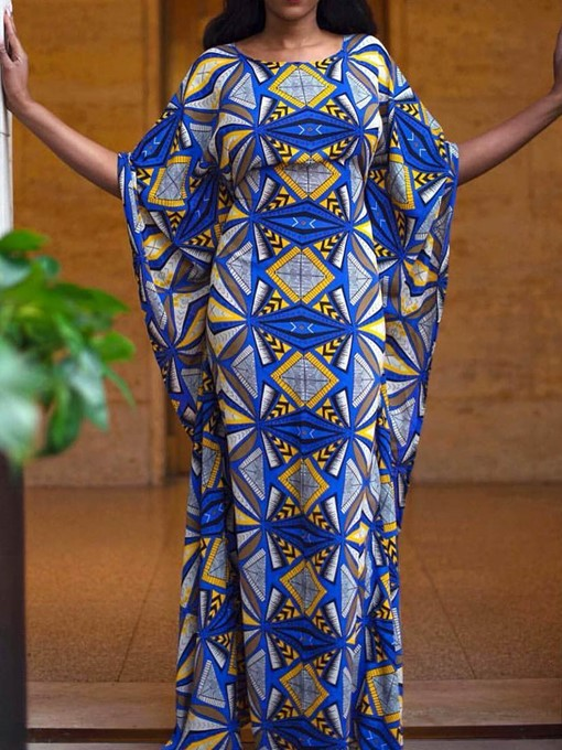 Ericdress African Fashion Round Neck Geometric Bodycon Dress