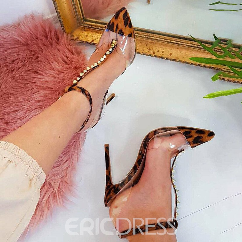 Ericdress Leopard Print Pointed Toe Buckle Stiletto Heel Women's Pumps