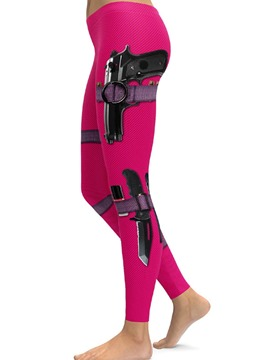 ericdress femmes couleur bloc 3d leggings de yoga d'impression