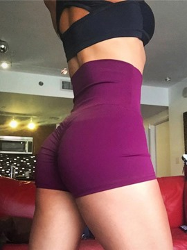 Ericdress Women High Waist Push Up Solid Sports Shorts Yoga Pants