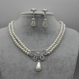 Floral Diamante Korean Jewelry Sets (Wedding)