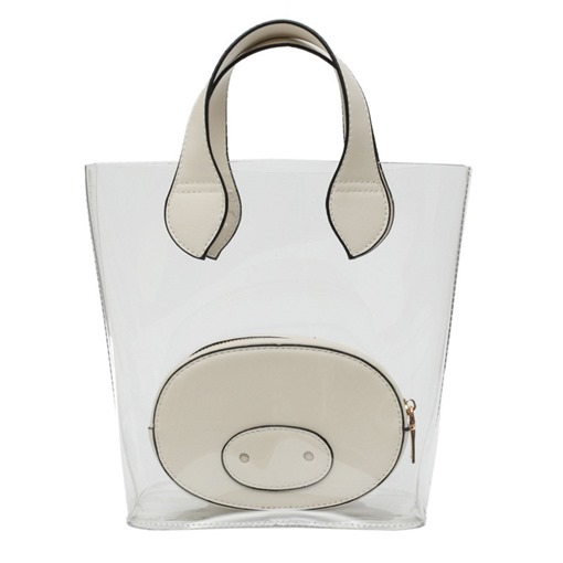 Ericdress Plain ABS Plastic Thread Barrel-Shaped Tote Bags
