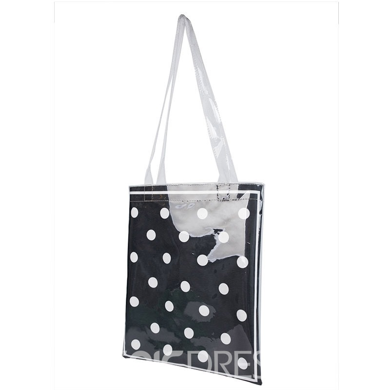 Ericdress PVC Polka Dots Thread Rectangle Shoulder Bags