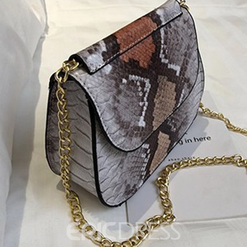 Ericdress Serpentine PU Chain Crossbody Bags