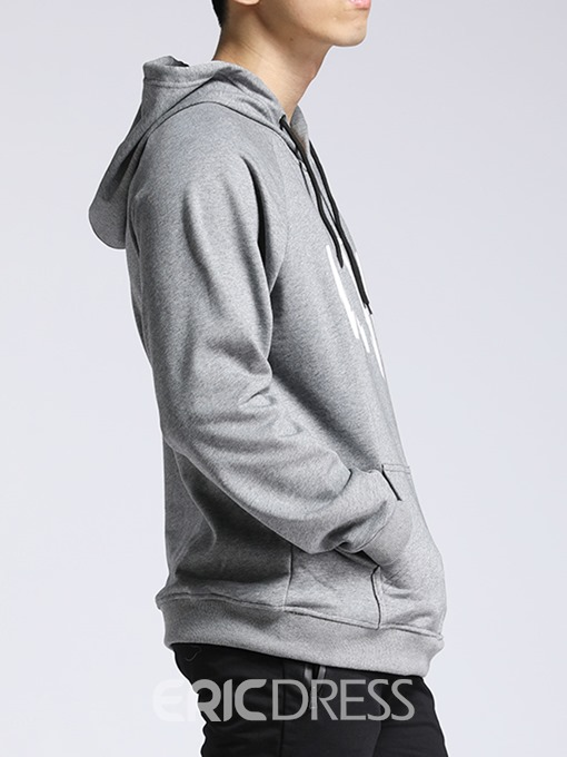 Ericdress Pocket Letter Casual Men's Pullover Hoodies