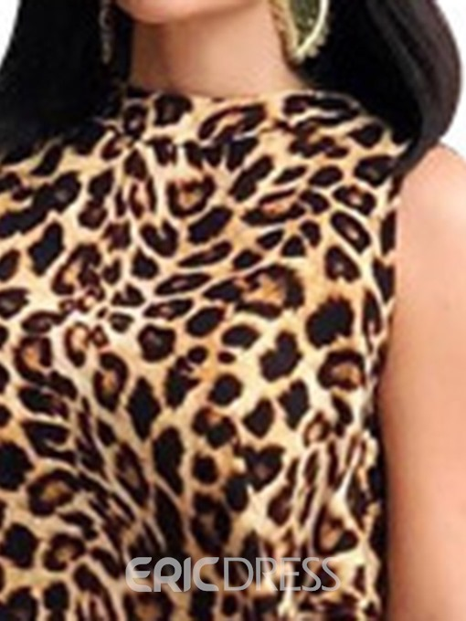 Ericdress Print Leopard Summer Long Tank Top