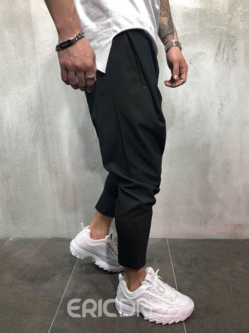 Ericdress Thin Plain Casual Spring Mens Casual Pants