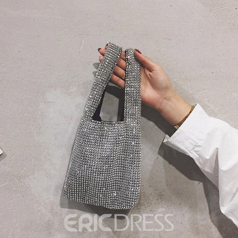 Ericdress Plaid PU Rectangle Hand Bags