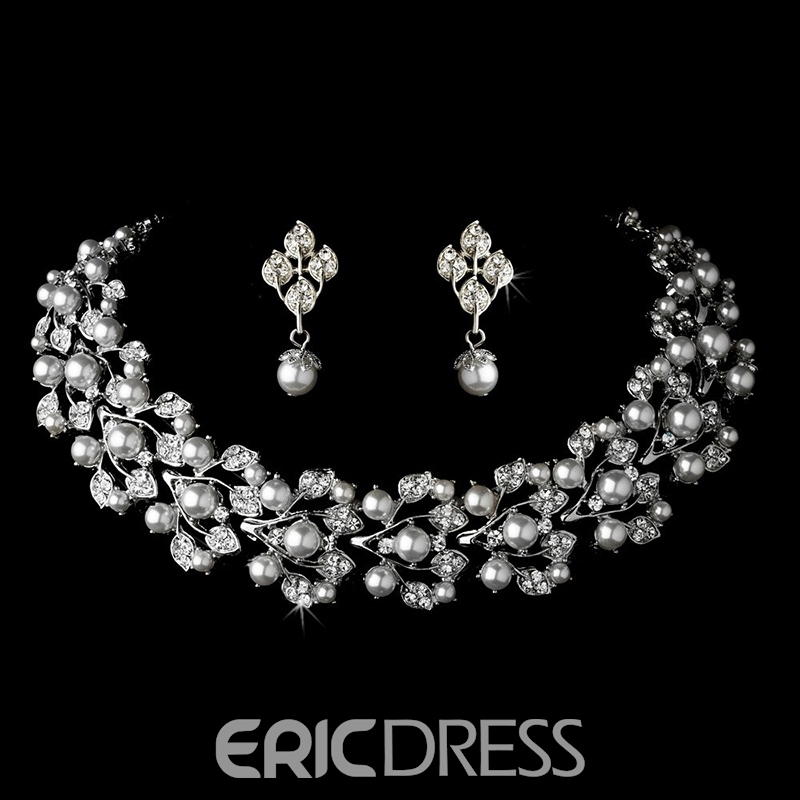 Necklace Floral Korean Jewelry Sets (Wedding)
