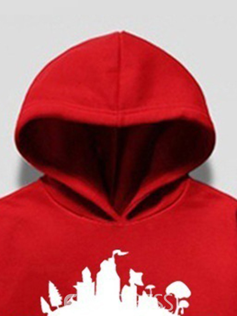 Ericdress Letter Pocket Men's Pullover Hoodies
