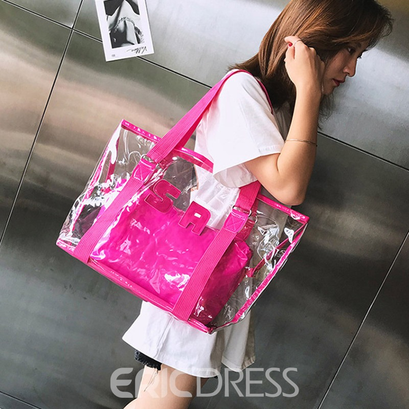 Ericdress ABS Plastic Thread Letter Square Shoulder Bags
