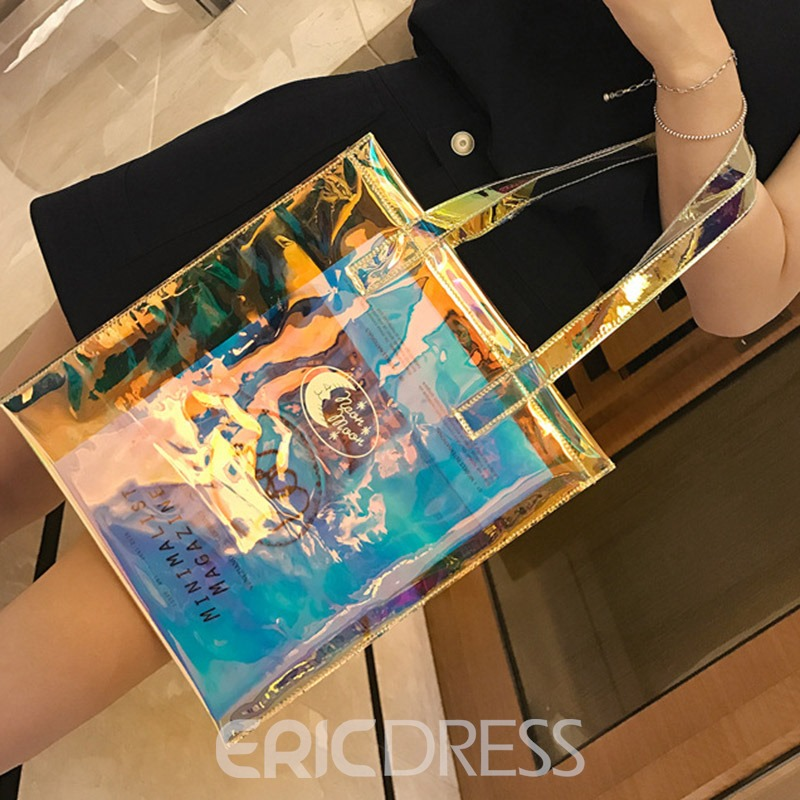 Ericdress PVC Thread Rectangle Shoulder Bags
