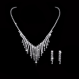 Necklace Diamante European Jewelry Sets (Wedding)