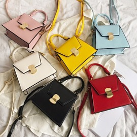 Ericdress Lock Plain PU Crossbody Bags