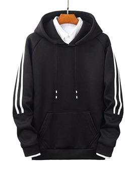 Ericdress Pocket Stripe Pullover Men's Casual Hoodies