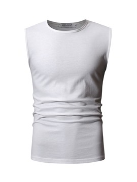 Ericdress Slim Round Neck Plain Mens Casual Vest