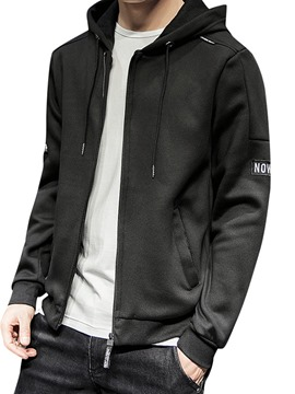 Ericdress Cardigan Plain Pocket Men's Loose Hoodies