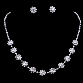 Necklace Floral Gemmed Jewelry Sets (Wedding)