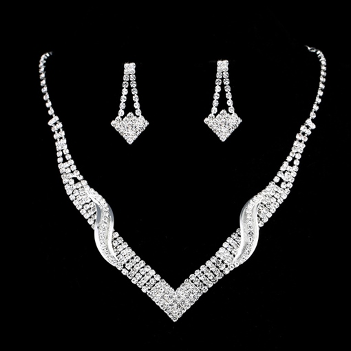 European E-Plating Earrings Jewelry Sets (Wedding)